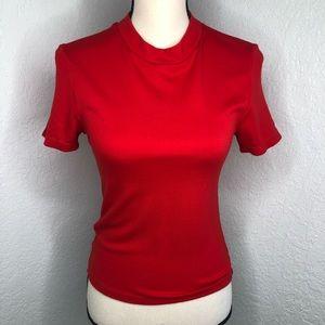 American Apparel Red Short Sleeve Top Sz M